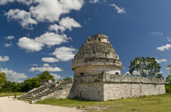 Observatory Ruins at Chichen Itza Mexico Stock Images