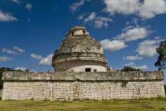 Observatory Ruins at Chichen Itza Mexico. Tourist stop at the ancient observatory ruins in Chichen Itza Mexico Royalty Free Stock Photo