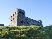 Observatory ruins on mountain top Royalty Free Stock Image