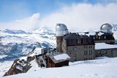 Observatory station Matterhorn Switzerland Stock Photo
