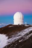 Observatory. On the summit of the Mauna Kea volcano in Hawaii Big Island stock image