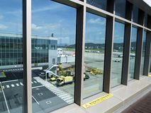Observatory in Taipei Songshan Airport. Taipei, Taiwan - JUNE 27, 2015: Observatory in Taipei Songshan Airport on June 27,2015 in Taipei,Taiwan Royalty Free Stock Photos