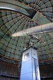 Observatory telescope. The Lick Observatory 36 inch refracting telescope on the summit of Mount Hamilton, in the Diablo Range just east of San Jose, California Royalty Free Stock Photos