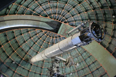 Observatory Telescope. The Lick Observatory 36 inch refracting telescope on the summit of Mount Hamilton, in the Diablo Range just east of San Jose, California Stock Photo