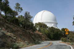 Observatory Telescope Dome. Modern telescope dome at Lick Observatory on the summit of Mount Hamilton, in the Diablo Range just east of San Jose, California, USA Royalty Free Stock Photos