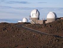 Observatory. On top of Haleakala National Park in Maui, Hawaii royalty free stock photo