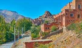 Observe el pueblo antiguo de Abyaneh imagen de archivo libre de regalías