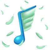 Observe la pluma Wing Icon Symbol Vector de la música Fotos de archivo