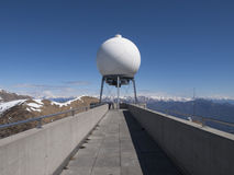 Observed weather. Montelema, Ticino - Switzerland: Observed weather on top of Mount with 360 degree views of Ticino and Lake Maggiore Stock Image