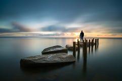 Observer. Autoprtret's photos, Baltic Sea, Poland Royalty Free Stock Image