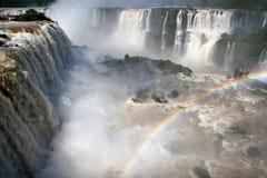 Observer le point par Iguazu Falls Photographie stock