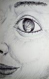 Observer sketch illustration Stock Photo