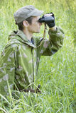The observer in the woods Stock Photos