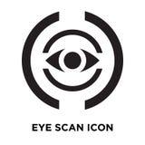 Observez le vecteur d'icône de balayage d'isolement sur le fond blanc, concept de logo illustration libre de droits