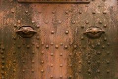 Observez texture de rouille en métal en métal de robot de page la vieille de fer rouillé de rouille images stock