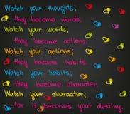 Observez vos pensées Photos libres de droits