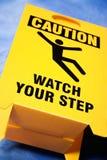 Observez votre signe d'opération Photo stock