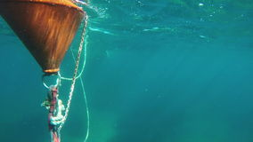 Observing buoy under surface stock footage