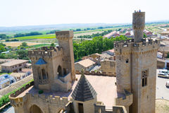 Observing Olite from the Castle Royalty Free Stock Images