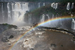 Observing point by Iguazu Falls Stock Photo