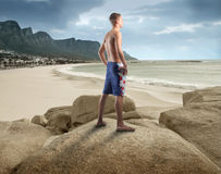Observing the seaside Stock Photos