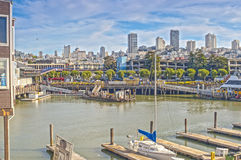 Observing View of San-Francisco City Shot from Pier 39 Location Royalty Free Stock Photo