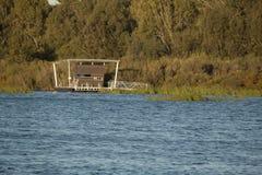 Obserwaci kabina na jeziorze Zdjęcie Royalty Free