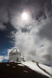 obserwatorium śnieg Obrazy Stock
