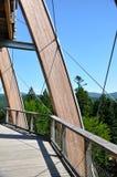 obserwatorium spacer odgórny drzewny Fotografia Royalty Free