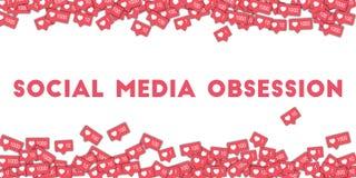 Obsessão social dos meios Foto de Stock Royalty Free