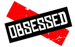 Obsessed attention sign. Caution red and black series royalty free illustration