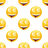 Obsessed by money emoticon pattern Stock Image