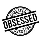 Obsessed rubber stamp Stock Photo