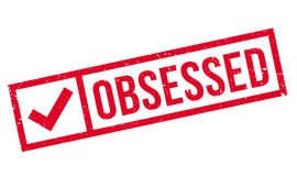 Obsessed rubber stamp Stock Image