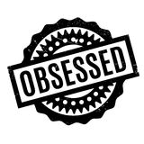 Obsessed rubber stamp Stock Images