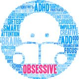 Obsessive Word Cloud Stock Photos