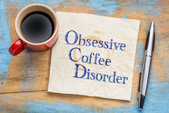 Obsessive coffee disorder Stock Image