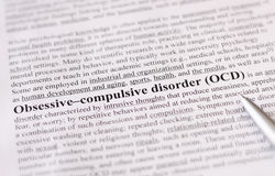 Obsessive compulsive disorder or OCD. education or healthcare concept / selective focus. royalty free stock photos