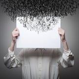 Obsessão. O córrego de pensamentos escuros. Fotos de Stock Royalty Free