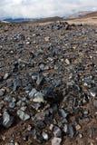 Obsidian bergen Royalty-vrije Stock Afbeeldingen