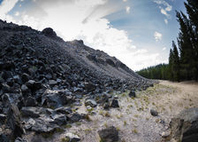 Obsidian flow. Large obsidian flow in New Berry national monument in Oregon royalty free stock photo