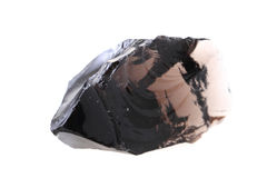Obsidian isolated Royalty Free Stock Photo
