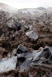 Obsidianfeld in Island lizenzfreie stockfotos