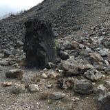 Obsidianstenblock royaltyfri bild