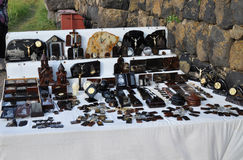 Obsidiansuvinir i Armenien sevan lake Royaltyfri Fotografi