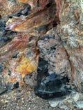 Obsidien naturel de Gelogical au cratère de Panum photos stock