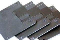 3 obsolètes à disque souple de 5 pouces aligné Image libre de droits