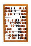 Obsolete abacus on a white background Stock Photos