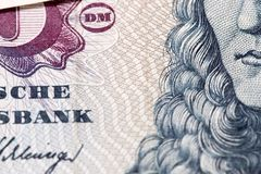Obsolete bank note detail. Very close up of obsolete bank note detail Royalty Free Stock Photography