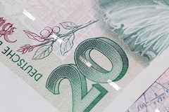 Obsolete bank note detail. Very close up of obsolete bank note detail Stock Photos